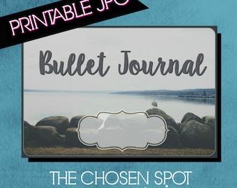Bullet Journal Label, notebook label, bullet journal accessories, bujo sticker, rocks, water, printable label, canandaigua lake, seagull