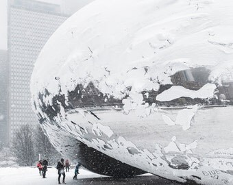 Chicago Photography Print - Cloud Gate in Winter