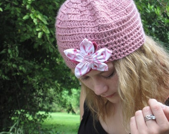 Breast CancerPink Awareness Crochet Hat