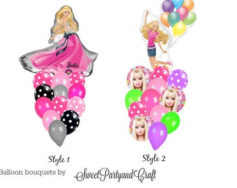 Barbie Party Ballon Bouquet