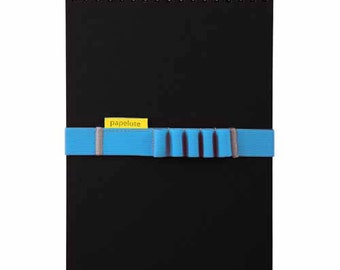 Papelote Spiral Notepad Black With Wide Ruled Paper