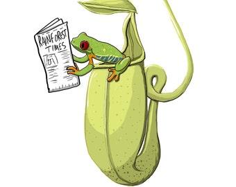 Underdone Comics: Treefrog and Pitcherplant Print