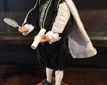 William Shakespeare Original Handmade Artist Doll