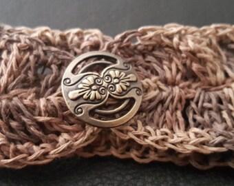 Multi-Earth Tone Crochet Hemp Bracelet
