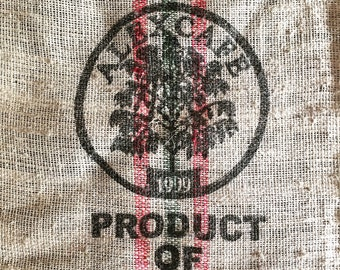 Framed Alexcafe Colombia Burlap Coffee Sack Wall Art