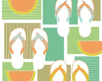 Summer = Watermelon + Flip Flops!