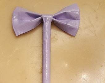 Lavender Duct Tape Bow Pen