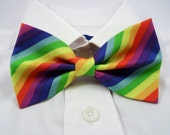 Rainbow Stripes Bow Tie