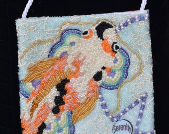 Beaded Fish Bag