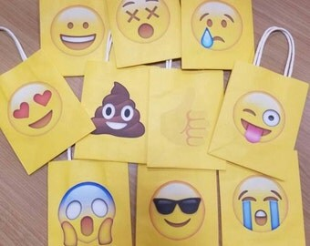 Emoji Theme Favor Bags