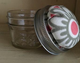 Jar Pin Cushion, Mason Jar Pin Cushion, Flower Pin Cushion