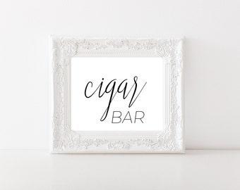 Wedding Cigar Bar Sign for Wedding - Wedding Printables - Wedding Signage - Wedding Reception Sign - Wedding Table Decor - Wedding Bar Decor