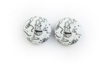 Chemistry Earrings, Titanium, 12mm, Hypoallergenic
