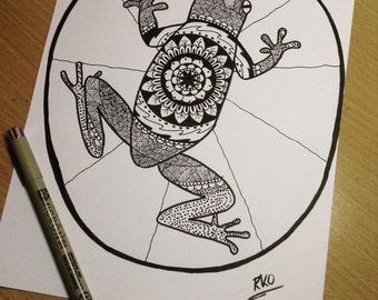 Frog Mandala Etsy