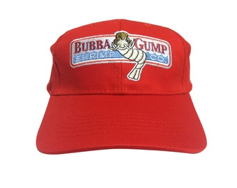 Bubba Gump Shrimp Co. Baseball Cap Just Like The Hat Forrest Gump Wears In The Movie 90s Costume Company Forest Run Running Boat Captain Red