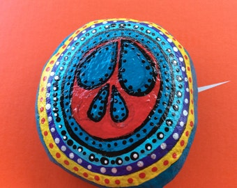 Peace, Painted Garden Rock, Painted Stone,Gift,Paper Weight
