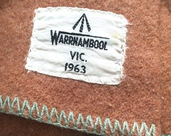 1960s Australian Army Blanket with Cushions