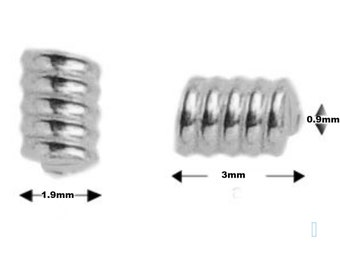 Sterling silver Spring Coil Spacer Beads PK10 PK50 For Jewellery Making