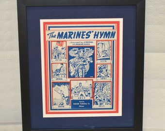 The Marines' Hymn, 1919 Framed Sheet Music