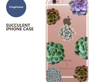 Succulent iPhone 6s Case, Transparent iPhone 7 Case, Cool iPhone Case, Also Available for 6 Plus & 6s Plus (Shipped From UK)