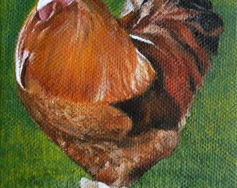 Original Chicken Acrylic Art Painting