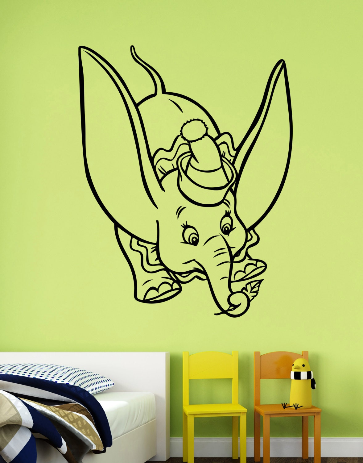 dumbo wall decal vinyl sticker disney movie art decorations dumbo the elephant disney decal removable wall sticker
