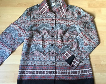 Ethnic Shirt for Women in Grey