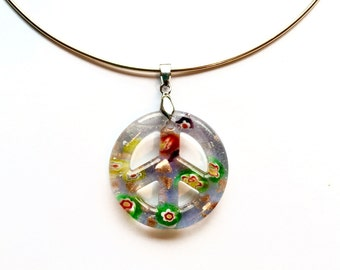 Peace of Glass Necklace