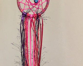 Red Pink Purple Boho Dreamcatcher Nursery Dream Catcher Wall Hanging Hippie Playroom Decor Gift Ideas Ornament