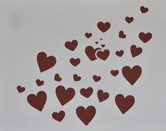 Heart Spray Stencil Template Scrapbooking Art Card Making