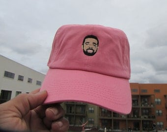 Custom Crying Drake Dad Hat, Salmon Pink Twill Cotton Dad Hat, Revenge 6 God Dad Hat, Low Profile Dad Cap, Yeezy Boost Dad Hats Caps