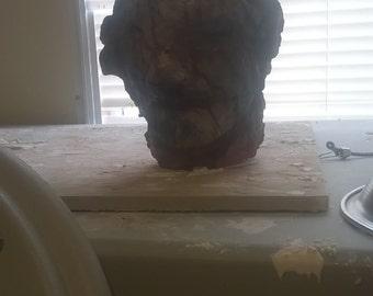custom made severed devil head prop