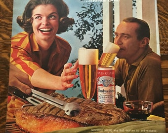 Budweiser Beer Ad from 1960's LIFE magazine