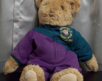 Vermont Teddy Bear Company  Brown Racer