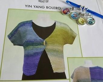 2007 Knit One Crochet Too Yin Yang Bolero Shrug Knitting Pattern