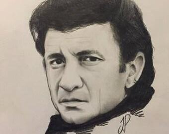 Johnny Cash A4 portrait (print)