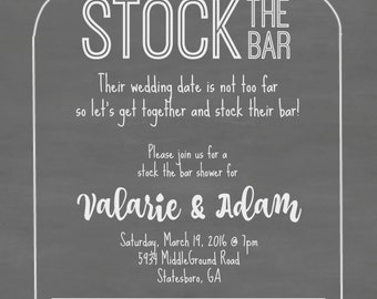Stock The Bar Mason Jar Invitation