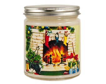 Christmas Candle, Holiday Candle, Scented Candle, Vintage Candle, Container Candle, Soy Candle, Vintage Christmas Candle, Holiday Decor