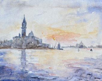 Original Watercolor | Venice | Isola di San Giorgio