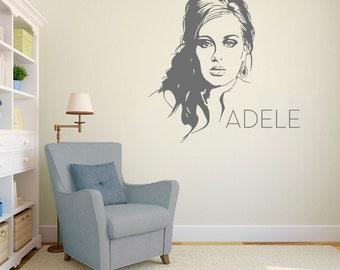 Adele Wall Art Decal Mural Sticker