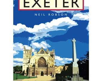 Exeter Cathedral Illustration - 40 x 30cm Art Print