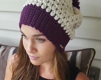 Puff Stitch Beanie / Crochet beanie / fall accessory / handmade / made to order / Crochet hat / winter fashion / toddler fashion