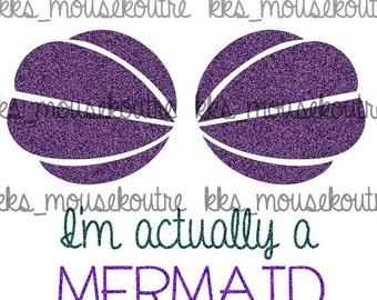 Mermaid Inspired Printable Iron on Transfer - Instant Download- Disney