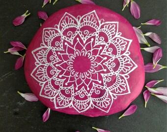 Mandala stone, pink