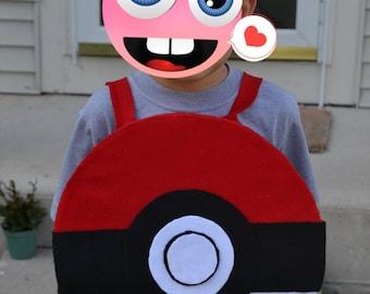 POKEMON POKEBALL COSTUME - Pokemon birthday, Pokemon party, Pokemon costume, Pokemon party decor, Pokeball costume, Pokeball party prop
