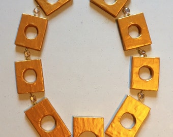 Resident Evil Excella Gionne Gold Cosplay Prop Necklace