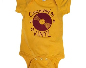 Conceived to Vinyl- Infant Fine Jersey Bodysuit
