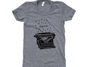 Typewriter T-Shirt -  Ladies SOFT American Apparel Shirt - Available in sizes S, M, L, XL