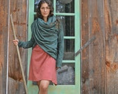 FALL SAMPLE SALE. The Meditation Wrap Tunic in organic hemp jersey. Ready to ship. Size sm/med in Olive.