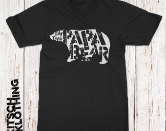 Papa Bear Mama Bear Shirt T-Shirts Fathers Day Gift Idea for